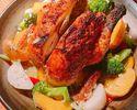 【X'mas ☆ 23 ~ ~ 25ème vente limitée ro Rôti d'herbes de poulet entier et de légumes ~ Sauce Diabola ~ Nous vous proposerons une cuisine spéciale en quantité limitée ◎ Parfait pour un moment de Noël amusant