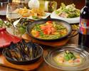 ☆伊達銀鮭のはらこ飯風パエリア☆お手軽カジュアルコース料理5品+120分飲み放題3000円