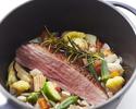 【人気ディナー】彩り豊かな前菜・お魚お肉のWメイン!人気の野菜ワゴンなど全7品