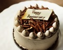 ★ Anniversary Set B ★  ( チョコレートケーキ12センチ、写真 )  【 お食事のオーダーと一緒にご注文ください。】