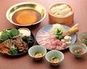 うどんすきお鍋コース4500円