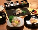 "Lunar dinner table ""Sakura ~ Sakura"" ~ With sashimi with three kinds of sashimi ~"