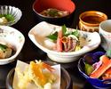 【ディナータイム】日本酒しゃぶしゃぶと旬の食材を使用した料理全9品の懐石プラン【彩コース】