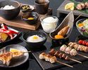 【WEB予約限定】乾杯ドリンク付!比内地鶏の串・鴨の炙り焼き含む人気コースをオープン記念特別料金で!