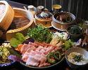 沖縄料理とやんばる島豚あぐーのせいろ蒸しのコース