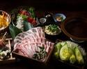 【~黄金出汁~イベリコ豚のしゃぶしゃぶコース】豪華新鮮鮮魚六点盛り、蒸し鶏とレタスのシーザーサラダ、出汁巻き玉子海苔餡かけ(全10品)2時間飲み放題付