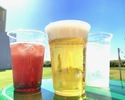 [Sunset time] All-you-can-drink alcohol and soft drinks