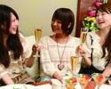 スイート女子会(2時間制+選べるお料理3品+特製ハニートースト+150種飲み放題)
