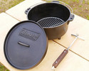 Dutch oven 8 inches (with wooden spar, lifter, medium net)
