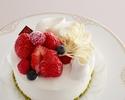 ☆【オプション】苺のショートケーキ5号(直径15㎝)