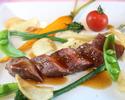 地元産の新鮮な野菜、肉、魚介を 贅沢に取り入れた創作フレンチ「栄」国産牛の炭火焼きなど全7品