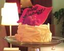 〈DinnerTime〉★バースデープラン★スパークリングワインと人気のリップホールケーキでお祝いするお得プラン!【フード5品+乾杯スパークリング+リップをモチーフにしたショートケーキ】