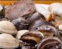 貝とフグの炭火焼きコース