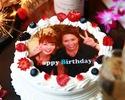 【記念日お祝いコース②】乾杯スパークリング&プリントケーキ付き 3時間ソフトドリンク飲み放題+料理5品