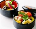 彩豊かなおすすめランチ「お昼の川梅」5,500円