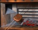 ランチ(黒毛和牛)炉釜炭火焼ステーキ100gコース