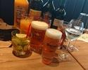 休日シュラスコランチ+飲み放題プレミアムコース¥5500(税別)