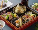 【Web予約限定】乾杯スパークリング、季節の天麩羅付き 贅沢な季節の松花堂SHARI御膳