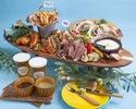 【ディナータイム】塊肉を豪快に!3種のお肉を楽しむルーフトップBBQプラン (飲み放題付き)¥4,500