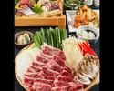 春野菜と牛肉の旨辛陶板焼きコース 3500円(全8品)