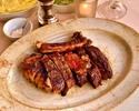 【ディナー】35日間熟成のブラックアンガスリブステーキを350g!接待にもおすすめ!