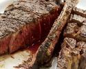 【ディナー】【数量限定】21日間熟成ポーターハウス650g! サーロインとテンダーロイン(フィレ)の2種類のお肉をお楽しみ頂ける贅沢ディナー※偶数人数様でのご予約限定※