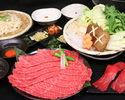 Kuroge Wagyu牛肉泼烤寿喜烧当然
