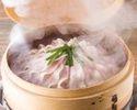 【2時間飲み放題付】当店一番人気のアグー豚の瞬間蒸し+サラダバーも付いた沖縄満腹コース【10名様以上】