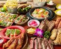 ビーフステーキやスペアリブのミートコンボなど12種類。WIKIKIコース