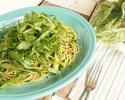 【カジュアルランチコース】季節の野菜がたっぷり!サラダ、ガーリックシュリンプ&特製パスタ付きランチコース 全3品