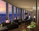 Pair plan (¥ 11,000 for two, observation deck admission ticket, dinner course, photo service + sparkling wine for toasts)