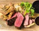 【お肉3種のグリル…3000円】アンガス牛、東京X、チキンのハーブグリル3種のコース