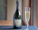 【 アニバーサリー ディナー】ドン・ペリニヨンで乾杯、ホールケーキでお祝い