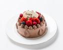 チョコ生デコレーションケーキ 4号