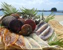 A fantastic value!  Limited to 2 persons – Enjoy freshly harvested seafood along with conversing Ama divers