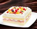 角型フルーツのショートケーキ・・・18cm(7~8名様)