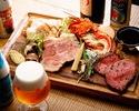 世界中で月3頭限定の幻の東京秋川和牛を含む東京食材堪能コース(お食事+乾杯用ドリンク1杯付)