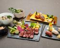 【3月・4月特別コース】 黒毛和牛の網焼きと厳選創作寿司のコース(3時間)