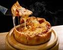 【ご予約限定・2名~予約OK!】乾杯ドリンク付き!選べるシカゴピザ&肉の満足セットコース