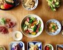 【記念日にオススメ】デザートプレート×いくらのお稲荷さんなど全7品【乾杯スパークリング付き】
