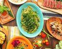アロハテーブル広尾店限定!カジュアルアロハコース!ハワイの定番料理アヒポキやガーリックシュリンプ、USハラミ肉など盛り込んだお得なコース♪全6品