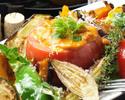 ③[お料理のみ]忘年会に!オマール海老風味のチーズフォンデュと清流若鶏のローストチキン×牛タンのWメインコース
