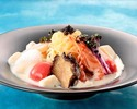 """""""Sairyu"""" original cold noodles-seafood cold noodles with caviar concentrated soy milk ice cream-"""