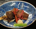 Charcoal-grilled Ozaki-beef (Halal) course 27,500JPY (Over 10 people)