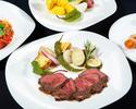 【7・8月特別コース】 黒毛和牛のビステッカと三浦産有機野菜のコース(2時間)