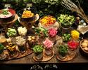【サラダはビュッフェスタイルで】L.A.西海岸の雰囲気溢れる店内で選べるグリルメイン含む優雅なランチ!