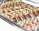 【デザート食べ放題】出来たてシュークリームを含む約25種の贅沢デザートビュッフェプラン