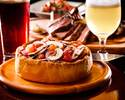 Wagyu&Chicago Pizza course 5,500 yen [with all you can drink] *Reservations from 2 people