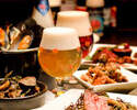 【乾杯1ドリンク付】ブランド豚TOKYO-Xメインと季節野菜のサラダ、自家製シャルキトリー -季節のベルギービールとマリアージュフードのコース-