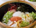 【9/1~10/31の期間限定】壱岐産イカのセビチェ丼 ふくや辛子明太子のせ